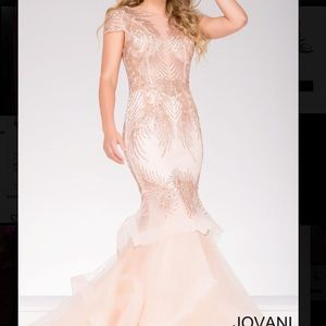 pink jovani gown